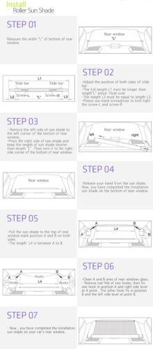 Retractable Sun Shade Visor Rear Window Roller Blind for HYUNDAI 1996-18 Elantra