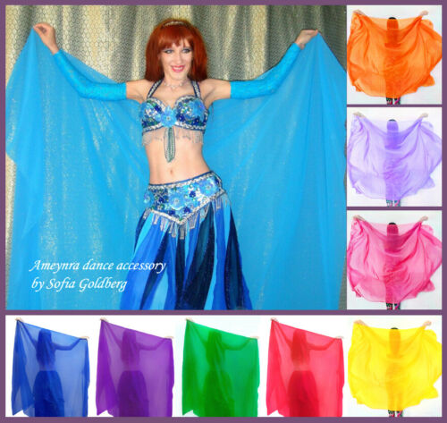 Chiffon Veil for Belly Dance Ameynra classic 3 yards by 54 inches