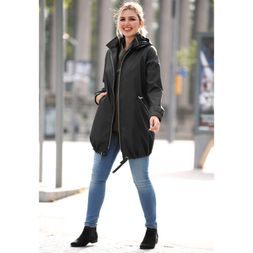 Plus size waterproof parka with hood 019362