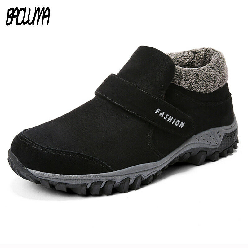 Winter Ankle Boots Men Suede Leather Winter Shoes Men Tennis Sneakers Winter