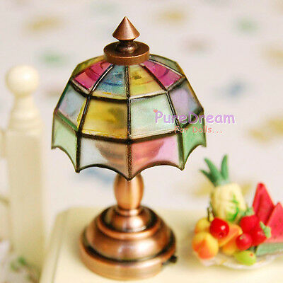 Dollhouse Mosaic 3V LED Table Lamp with Switch Battery Operated LD007E