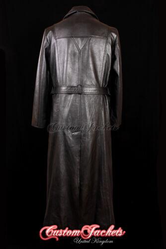 Men/'s BLADE Real Leather Long Coat Black VAMPIRE SLAYER Full-Length Coat 00147