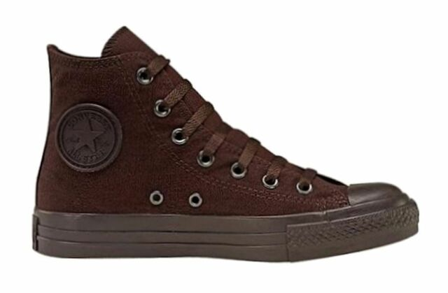 88aafac0f759 Converse Chuck Taylor All Star Hi Tops Chocolate Mono Mens Sneakers Shoes