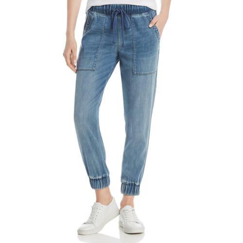 Bella Dahl Womens Blue Denim Drawstring Ankle Jogger Pants L BHFO 1143