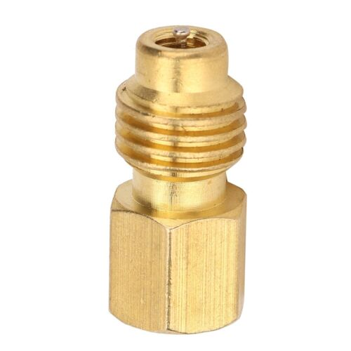 R134A Car Air Conditioner 1//4SAE Female to 1//2ACME Brass Male Adapter Connector