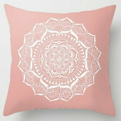"""18/'/'x18/"""" Pillow Home Decor Pink Cushion Cover Sofa Polyester Throw Nordic Cases"""