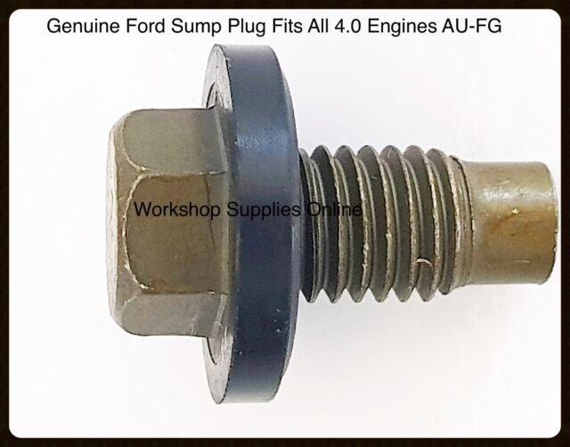 Sump Plug Genuine Ford Falcon AU BA BF FG Xr6 Territory 4 0 6 CYL Barra  Engine