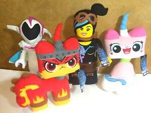 Lot-Of-Lego-Movie-2-Unikitty-Angry-Kitty-Lucy-Sweet-Mayhem-Plush-Animals-NWT