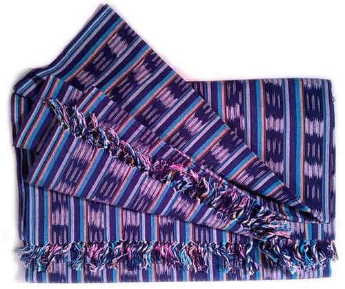 Baby-Tragetuch, blau, Ikatmuster, 90x410cm 100% Baumwolle Babytragetuch Neu…