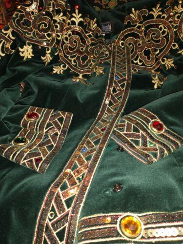 Vintage GREEN VELVET JULIE DUROCHE FANCY SKIRT SUI