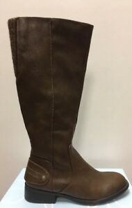 Size Xandy Tan Calf Dark Details 6 Women's High Wide Knee Life New Boots Stride About qSzVpGUM