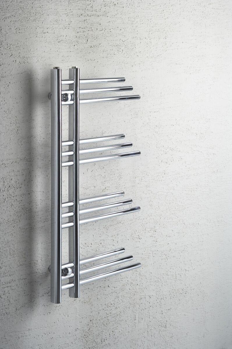 Designer Chrome Porte-serviettes Rad salle de bains radiateur 500 mm (W) x 900 mm (H) difta New
