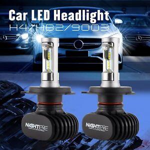 Luces Del Auto Coche 8000lm 6500K LED Brillante Bulbs Headlight Lámparas Faro H4