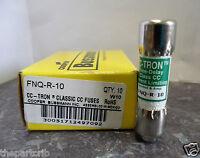 Lot Bussmann Fnq-r-10 Amp Fuses Class Cc 600 Volts