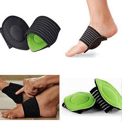 pair Foot Support Strutz Cushioned Arch Helps Decrease Plantar Fasciitis Pain #