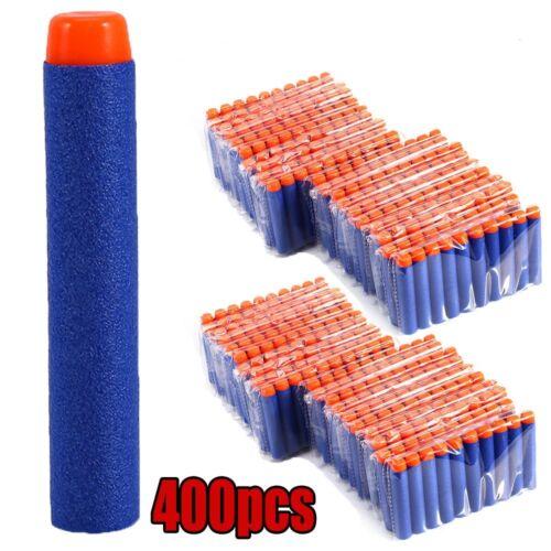 400pcs Bullet Darts For NERF Kids Toy Gun N-Strike Round Head Blasters #S Blue