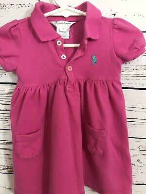 Clothing, Shoes & Accessories Selfless Ralph Lauren Little Girls Dress 9 Months Pink
