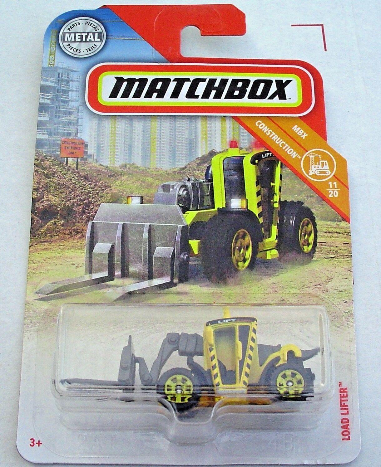 Matchbox 2018 Load Lifter MBX Construction Yellow 47//125 Long Card by Mattel