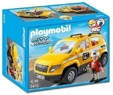 Playmobil Site Supervisor Vehicle City Action Construction Roof Laptop Briefcase