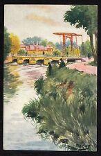 C. 1930s Artists view of 'Le Pont levis, Abbeville', France