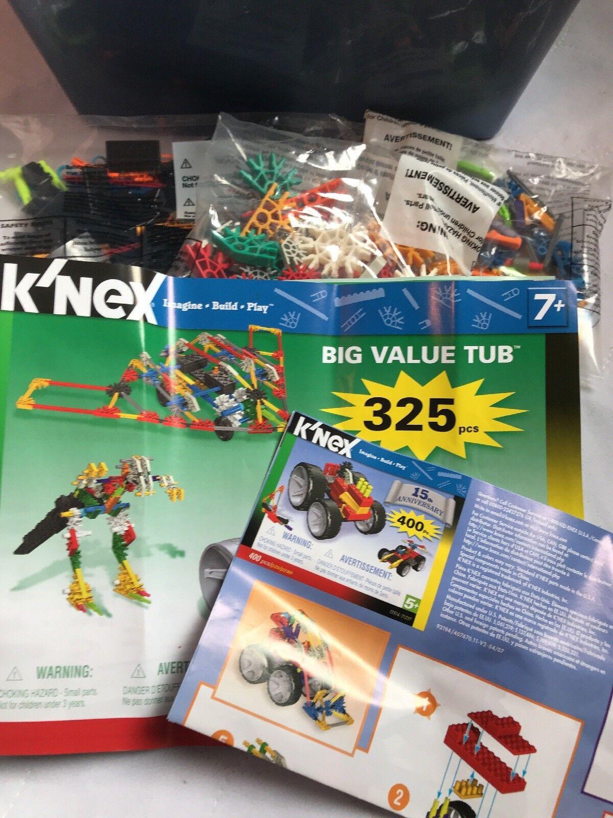 K'nex 15th Anniversary 400 Pcs educational building set, lots of models