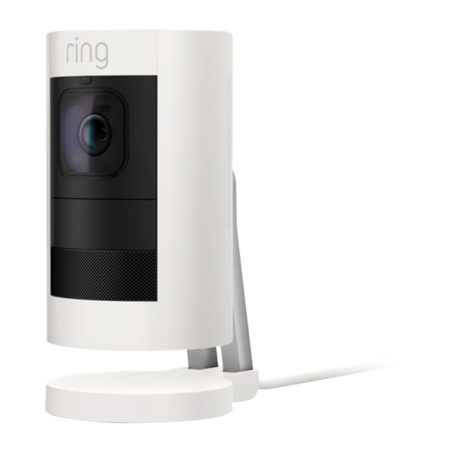 Ring Stick Up Camera Wired HD Security Camera - White Brand New 8SS1E8-WAU0
