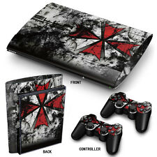 PS3 SuperSlim PlayStation 3 Skin Stickers PVC for Console & 2 Pads Umbrella