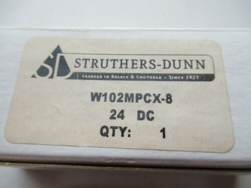 STRUTHERS-DUNN W102MPCX-8 102MPCX8 24V DC RELAY NEW