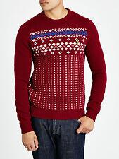 Lyle and Scott Fairisle Crew Neck Jumper, Sweater, Medium, BNWT, Christmas?
