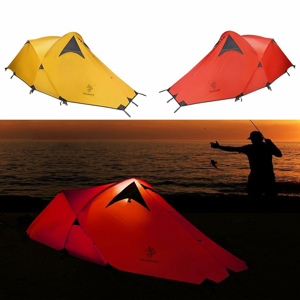 Waterproof 1-2 Person Camping Tent Wind  Resistance Instant Hiking with Bag  free shipping worldwide