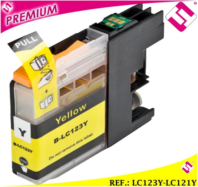 Ink LC123Y LC121Y Yellow Compatible Cartridge Yellow Nonoem Brother