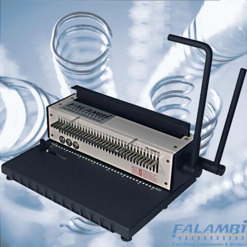 Stanz Bindegerät für Drahtspiralen und Drahtbindemaschine TD-1500 34 Ringe