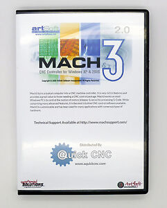 Details about Fully Licensed Mach3 CNC Software by Artsoft! Control CNC  Machines / Steppers