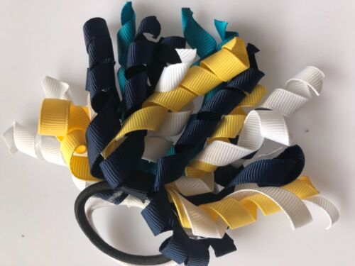 1PEICE Girl Kids School Curly Elastic Hair Ties Cheer leading Holder Scrunchies