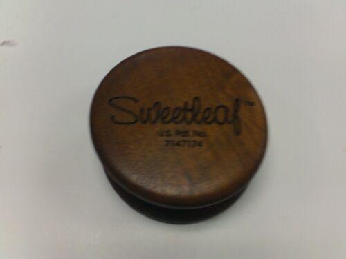 SWEETLEAF WOOD SHREDDER 2-PIECE TOBACCO HERB GRINDER  2 INCHES SMALL