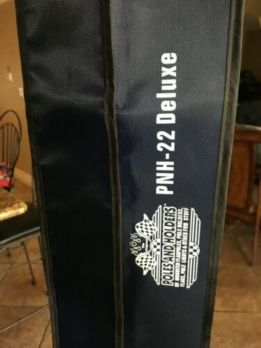 "/""FLAG POLE BAG/"" nylon canvas Navy Blue carry hold strong strap storag 50/""x3.5/"""