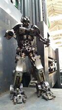 Scrap Metal Transformer Optimus Sculpture 35cm, Handmade from Car Bike Parts