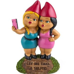 BigMouth Inc. The Selfie Sisters Garden Gnome - Outdoor Statue Sculpture
