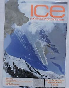 ICE A4 260gsm Canvas Cotton 5 10 25 Sheets - Mansfield, United Kingdom - ICE A4 260gsm Canvas Cotton 5 10 25 Sheets - Mansfield, United Kingdom