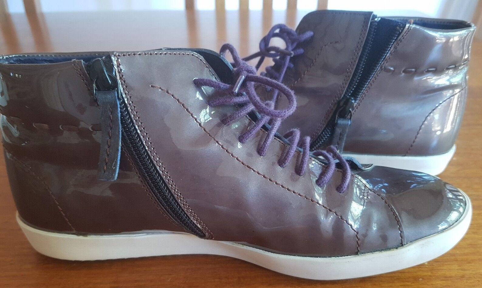 Women's Size 37 Floris van Patent Bommel Patent van Leather Ankle Sneaker 5dd7ef