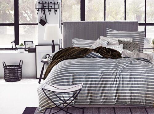Odyssey Santa Barbara Striped 250TC Cotton KING Size Quilt Doona Cover Set