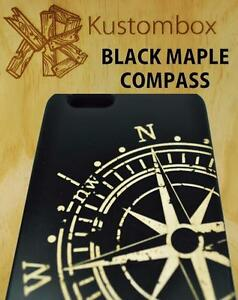 NAUTICAL-COMPASS-BLACK-MAPLE-TIMBER-WOOD-iPHONE-5-6-6-PLUS-SE-CASE
