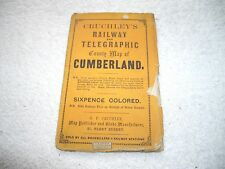Crutchley Crutchley's Railway and Telegraphic county map Cumberland EP1