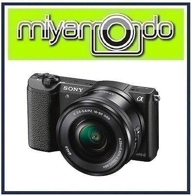 NEW Sony Alpha A5100 (Black) Mirrorless + 16-50mm Lens Kit (M'sia) + 8GB + Bag