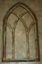 """Wooden Antique Style Church WINDOW Frame Primitive Wood Gothic 30 1/2"""" Shabby"""