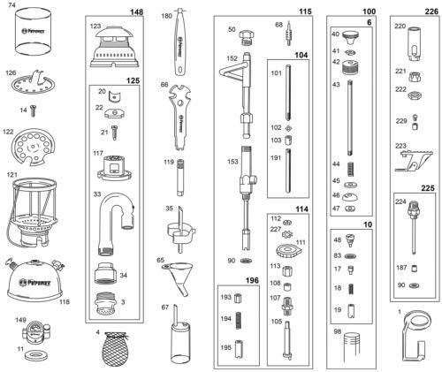 pièces de rechange landshop 90 153 Petromax carburateur corps HK 350-500 + joint