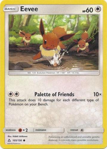4x Eevee 104//156 NM Pokemon TCG Card Lot