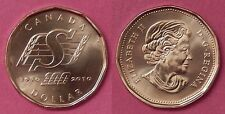 Brilliant Uncirculated 2010 Canada Saskatchewan Roughriders 1 Dollar