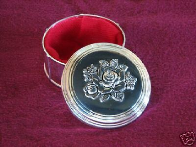 Round Antiqued Moon Top Jewelry Treasure Trinket Box CL