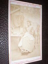 CDV photograph woman in Swiss costume by Braun Dornach Switzerland  c1870s